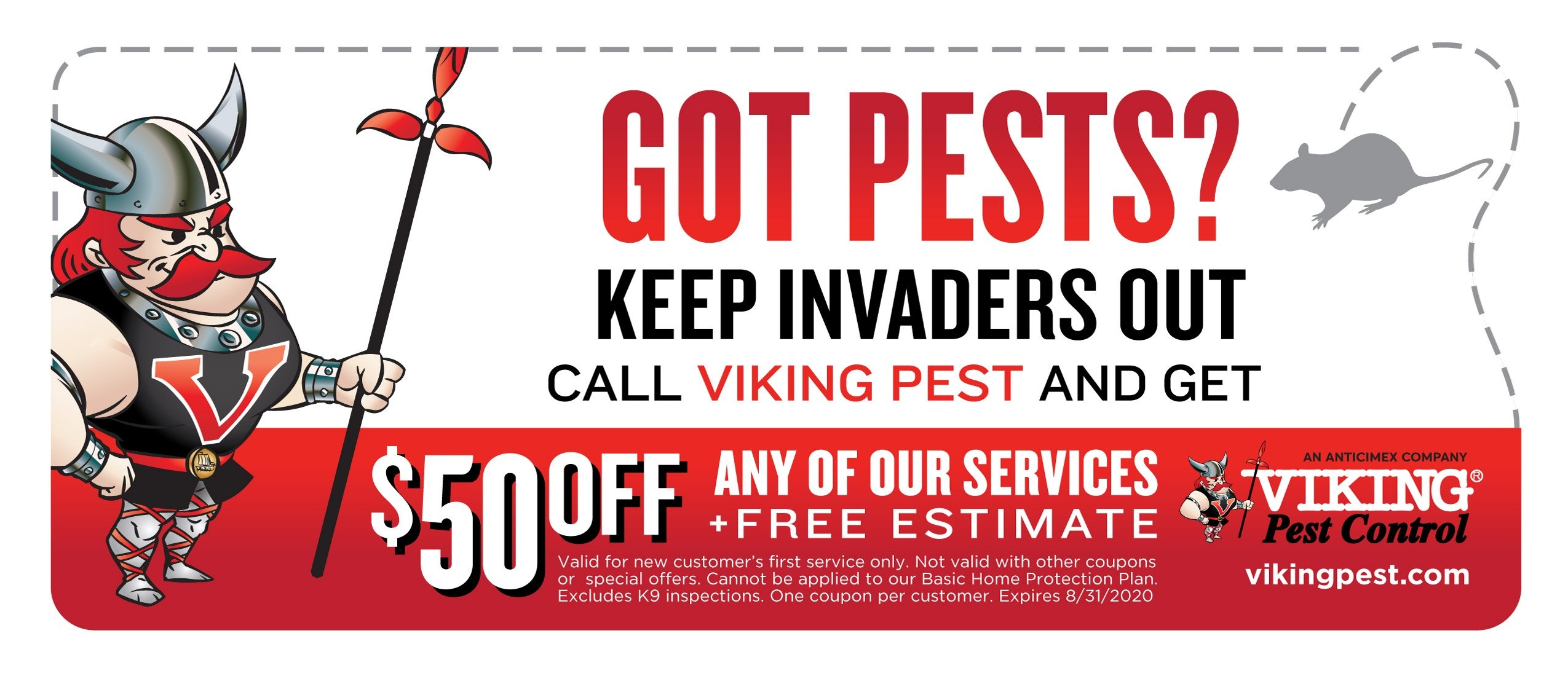Save $50 on Pest Control