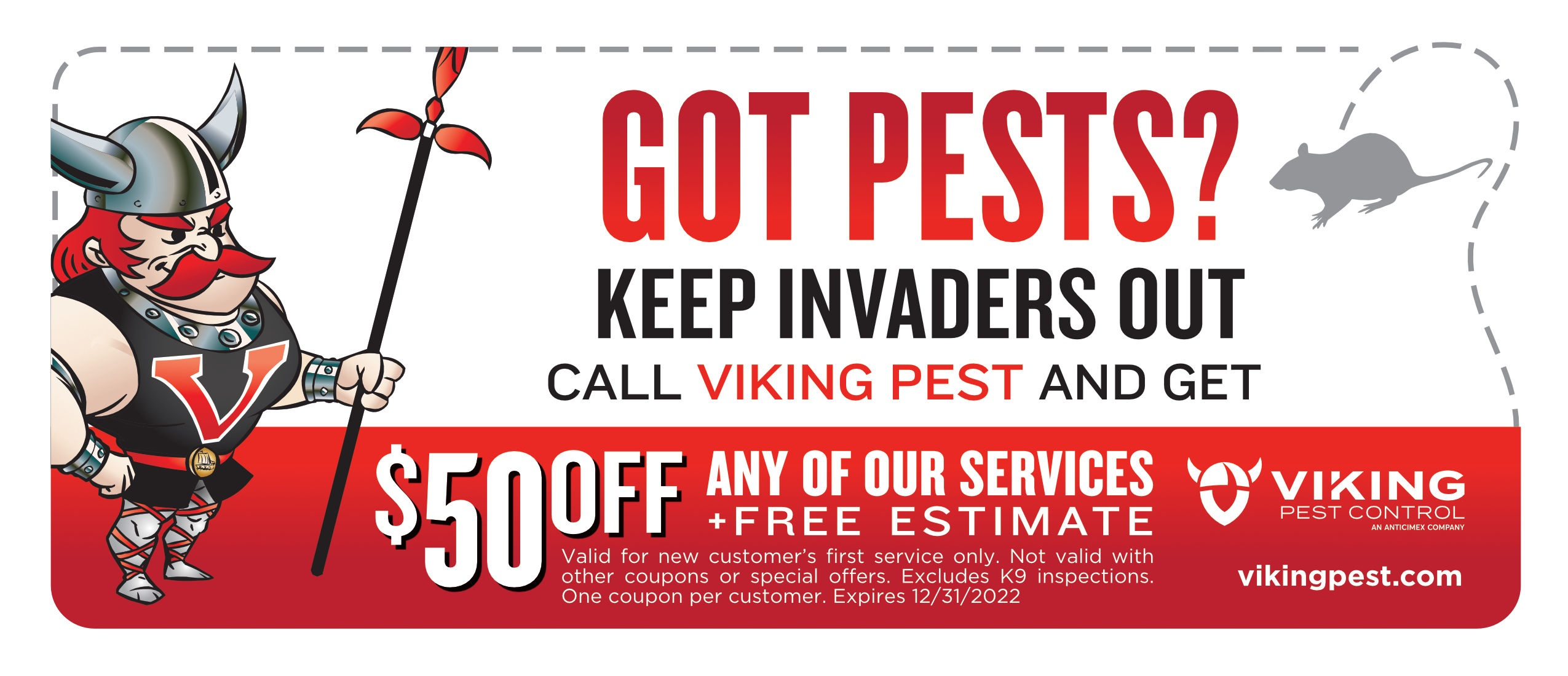 $50 Off Pest Control Offer