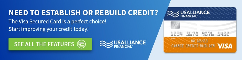 Build credit with a Visa Secured Card