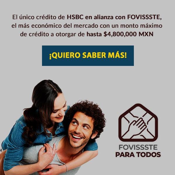 FOVISSSTE para todos con HSBC - Estrenas casa o departamento con marhnos hábitat