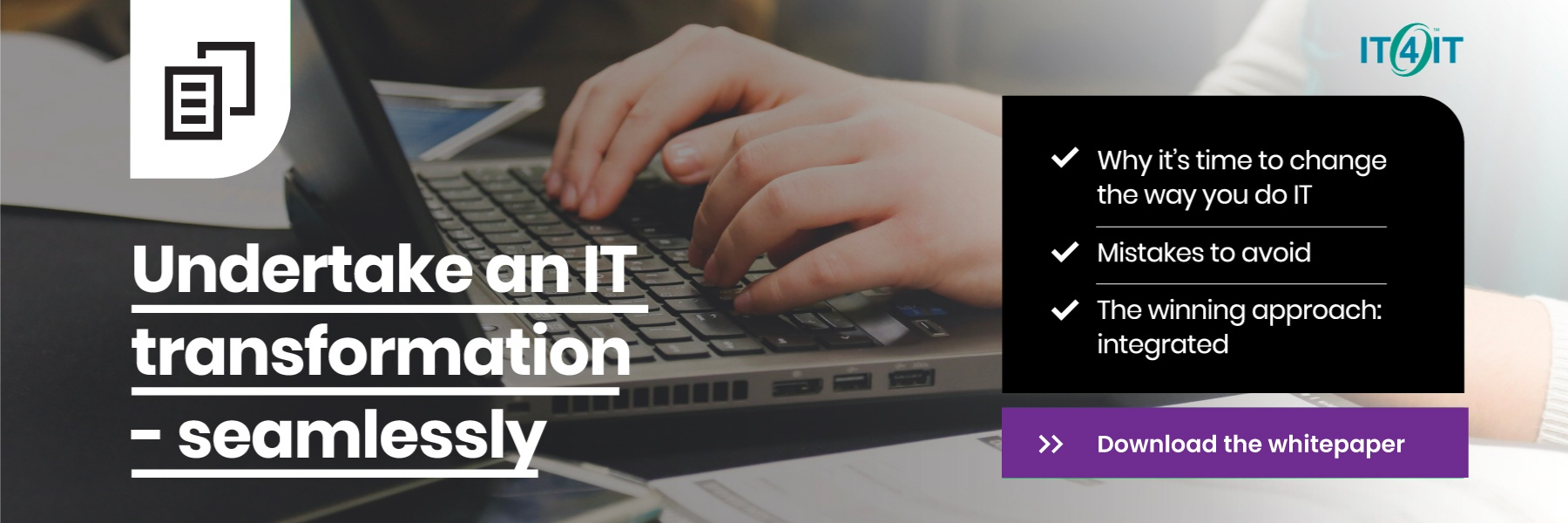 Download the IT4IT whitepaper