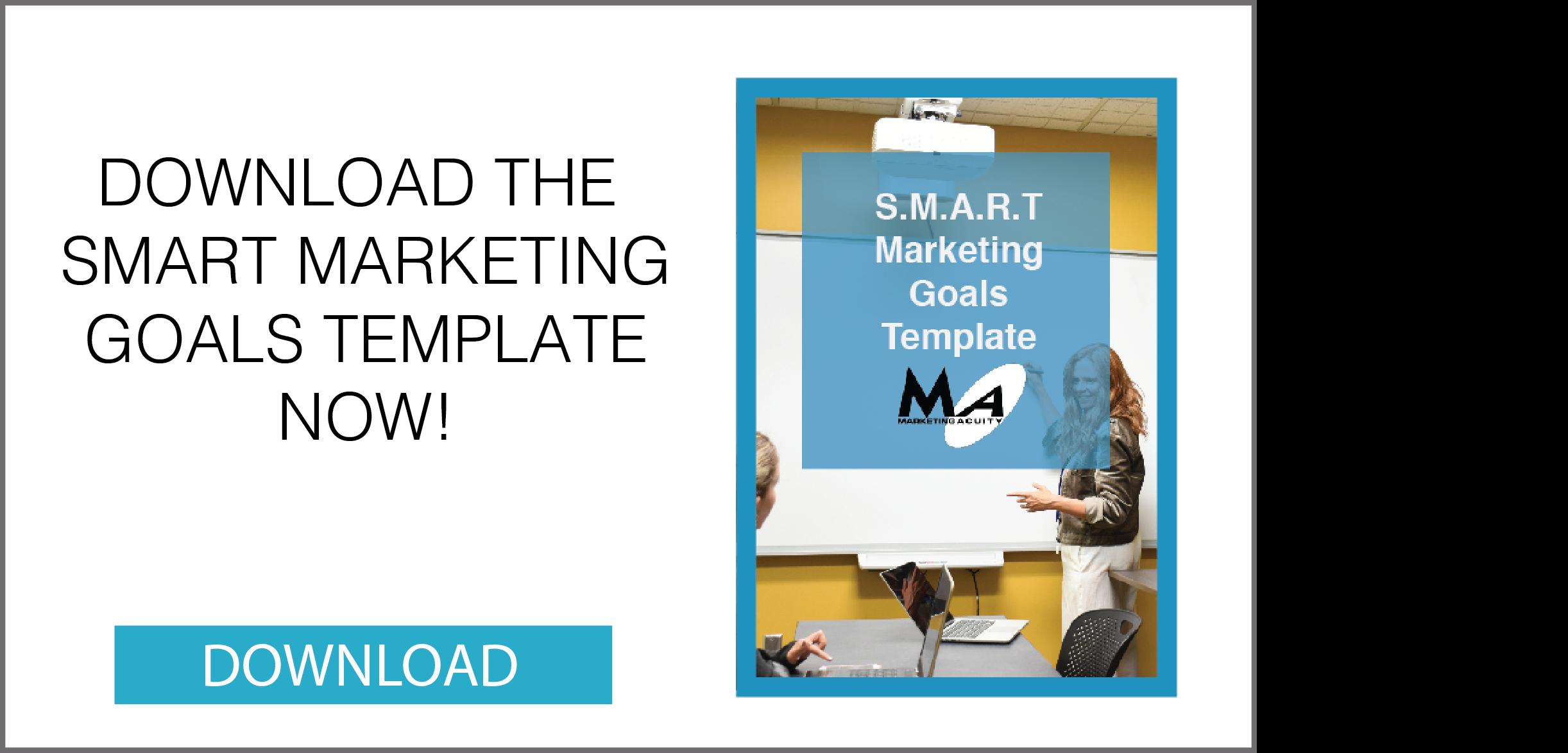 SMART Marketing Goals Template CTA