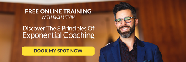 Discover the 8 principles of exponential coaching in this free online training with Rich Litvin