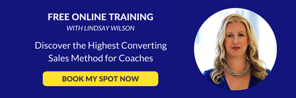 free online training on the highest converting sales method for coaches