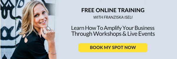 free online training to learn how to amplify your business through workshops and live events