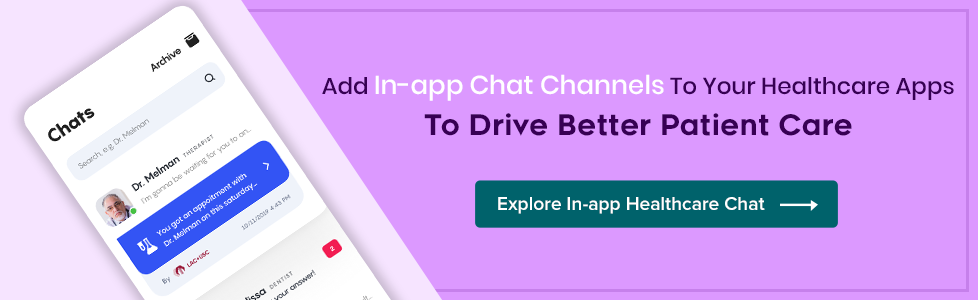 In-app chat for healthcare app