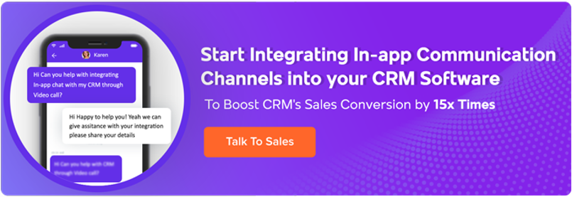 In-app Chat Into CRM Software