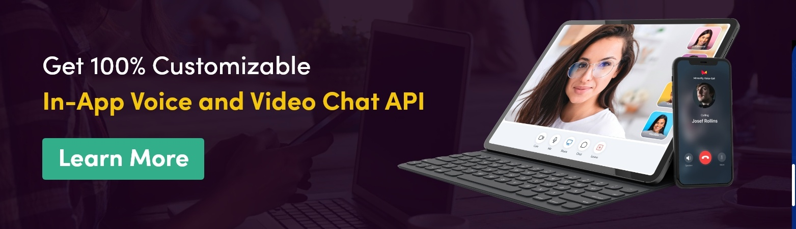 in app voice and video call solution
