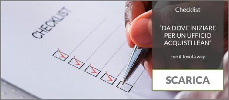 Scarica la Checklist Da dove iniziare per un ufficio acquisti lean