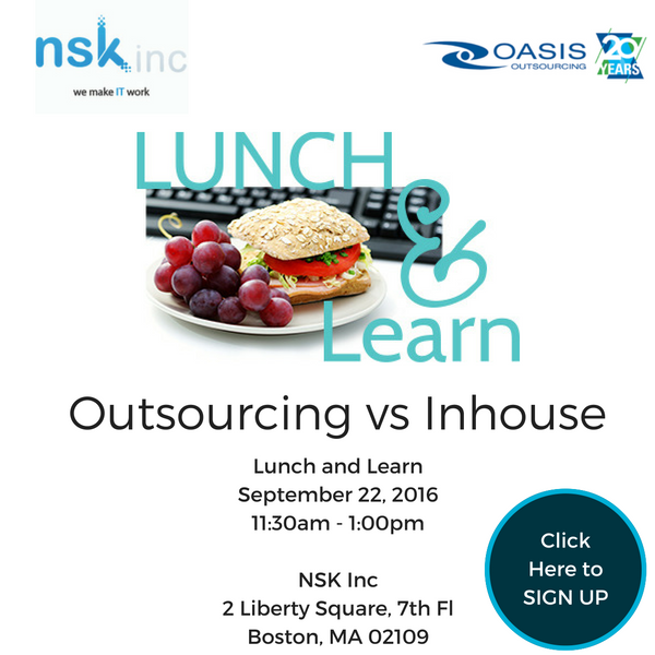 Outsourcing Lunch and Learn