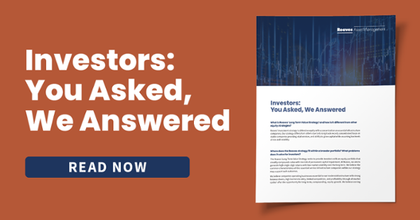 Investors: You Asked, We Answered.