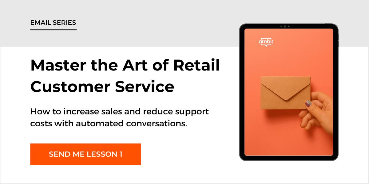 Retail email series image CTA