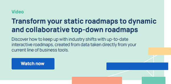 Transform your static roadmaps to interactive and collaborative top-down roadmaps