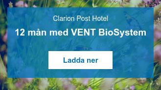 Clarion Post Hotel  12 mån med VENT BioSystem   Ladda ner