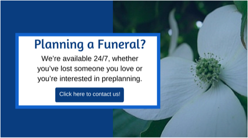 Contact us for funeral planning.