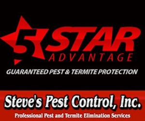 Steve's Pest Control 5 Star Advantage