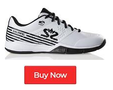 Salming Viper 5 White Black Indoor Court Shoes - Buy Now