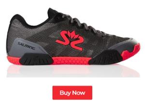 Salming Hawk Gunmetal / Lava Red Indoor Court Shoes - Buy Now