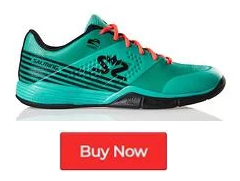 Salming Viper 5 Turquoise Black Indoor Court Shoes - Buy Now