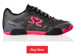 Salming Hawk Gunmetal / Pink Women's Indoor Court Shoes - Buy Now