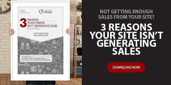 Image of a free guide: 3 Reasons your website isn't generating sales