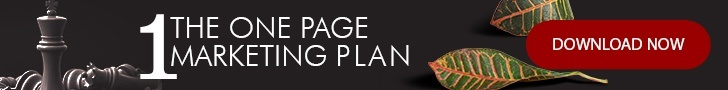 CTA to download the 1 page marketing plan