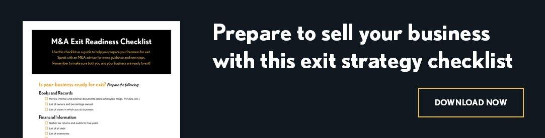 M&A Exit Readiness Checklist CTA
