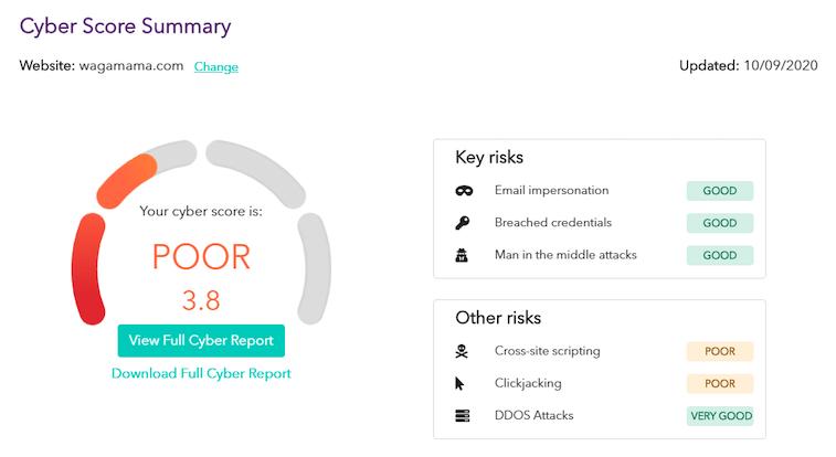 Brisk cyber score