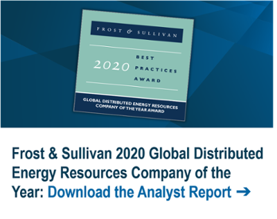 Frost & Sullivan 2020 Global Distributed Energy Resources Company of the Year: Download the Analyst Report ➔