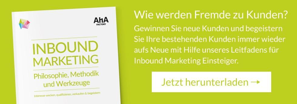 Ebook Inbound Marketing jetzt herunterladen!