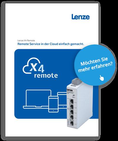 Lenze X4-Remote: Remote Serive und Fernwartung in der Cloud einfach gemacht.