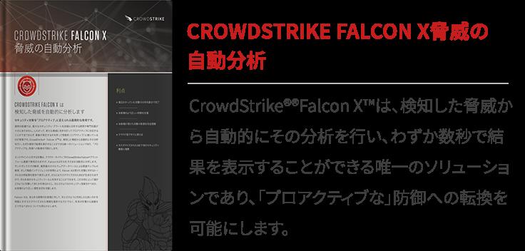 CROWDSTRIKE FALCON X脅威の自動分析