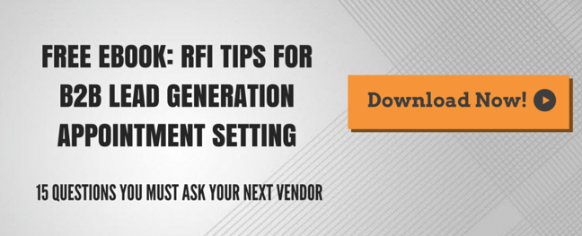 RFI tips for b2b lead generation appointment setting