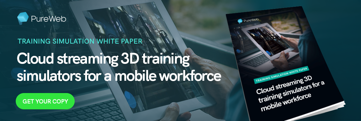 Cloud streaming 3D training simulators white paper from PureWeb