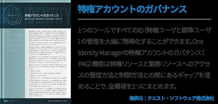 Identity Manager -企業のIDおよびアクセス管理のリスクを軽減-