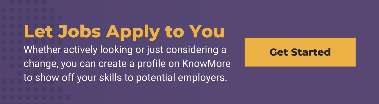 KnowMore create a profile