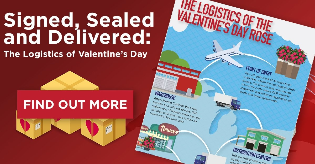 valentines day logistics