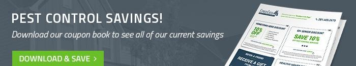 Coupon savings on houston pest control