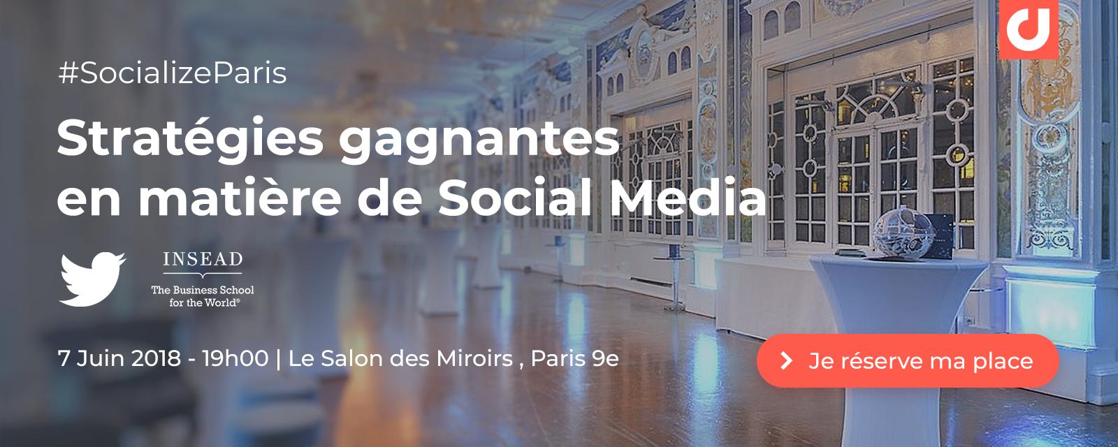Inscrivez-vous à Socialize Paris !