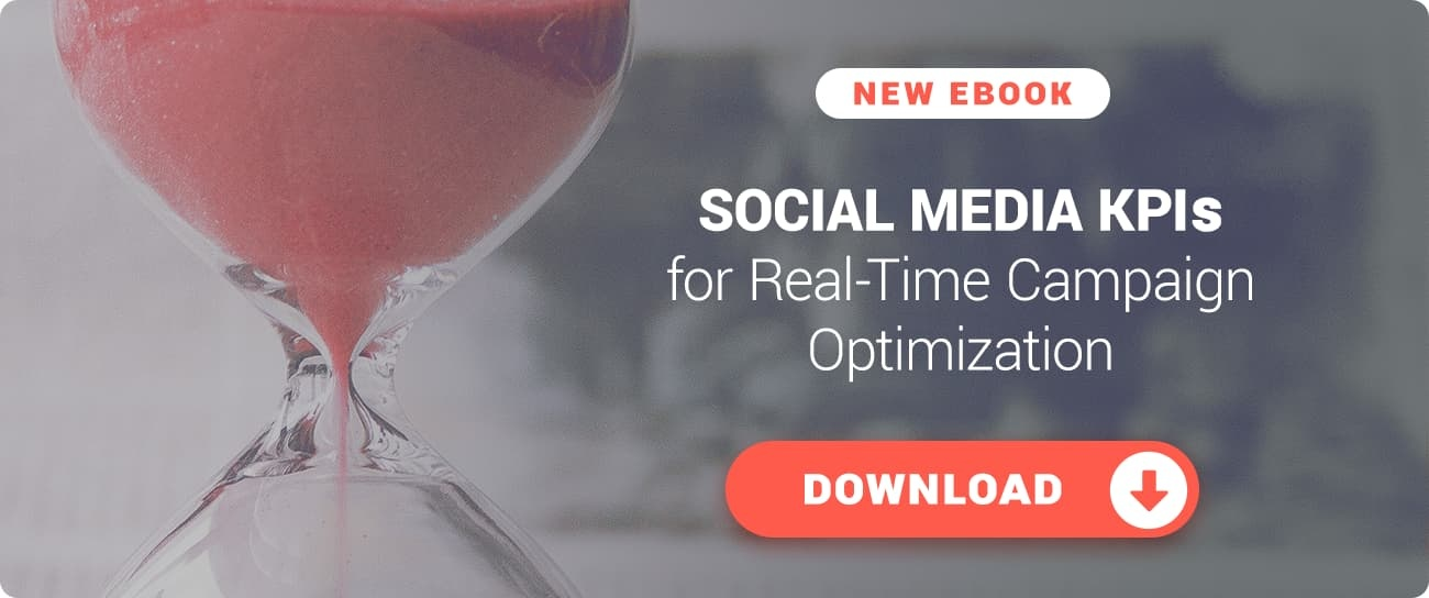 Download this free eBook on using social media KPIs for real-time campaign optimization!