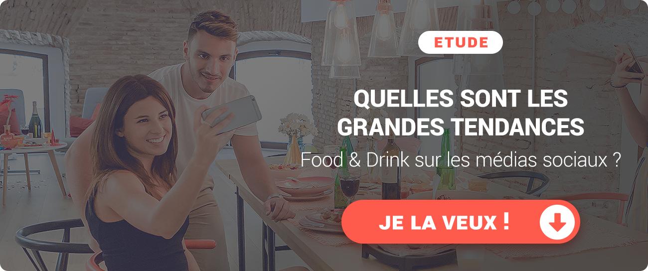 Quelles sont les tendances du marché Food and Drink sur les médias sociaux ? Etude gratuite