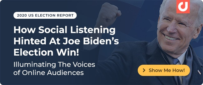 2020 US Election Report - How Social Listening Hinted At Joe Biden's Election Win