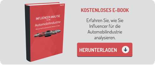 E-Book 'Influencer Analyse Automobilindustrie'