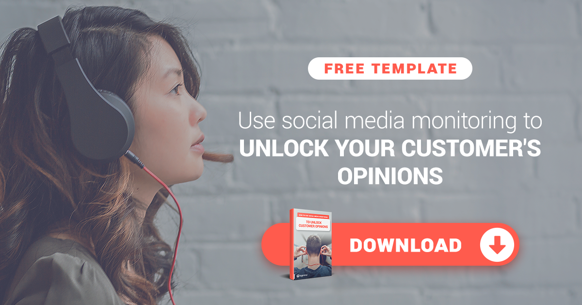Use social media monitoring to unlock your customer's opinion with this free template.