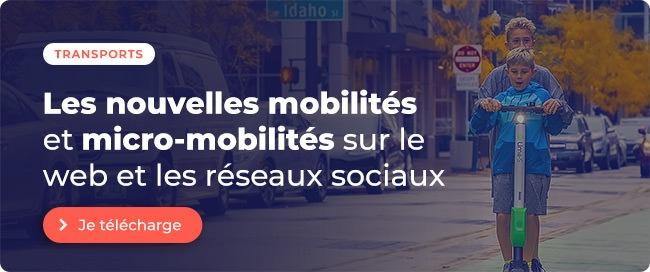 Etude Transports : Les nouvelles mobilités et micro-mobilités sur le web et les réseaux sociaux