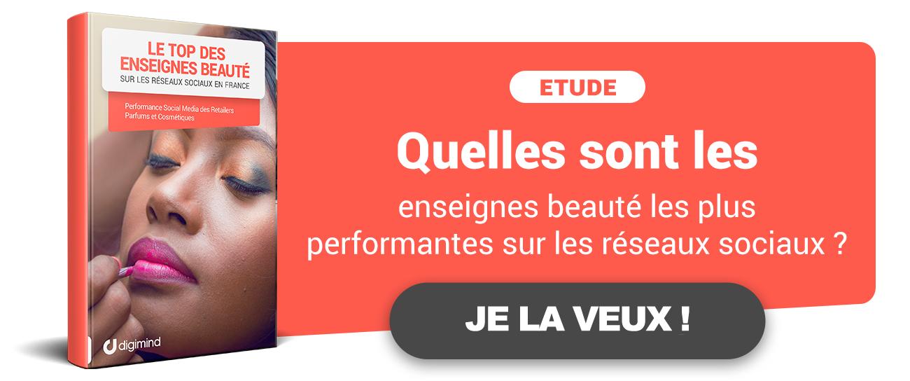Etude : Top des enseignes de Beauté sur les médias sociaux en France