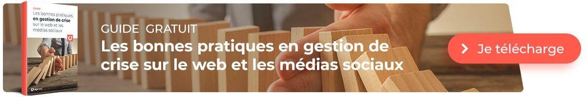 Découvrez le Guide : Les bonnes pratiques en gestion de crise sur le web et les médias sociaux