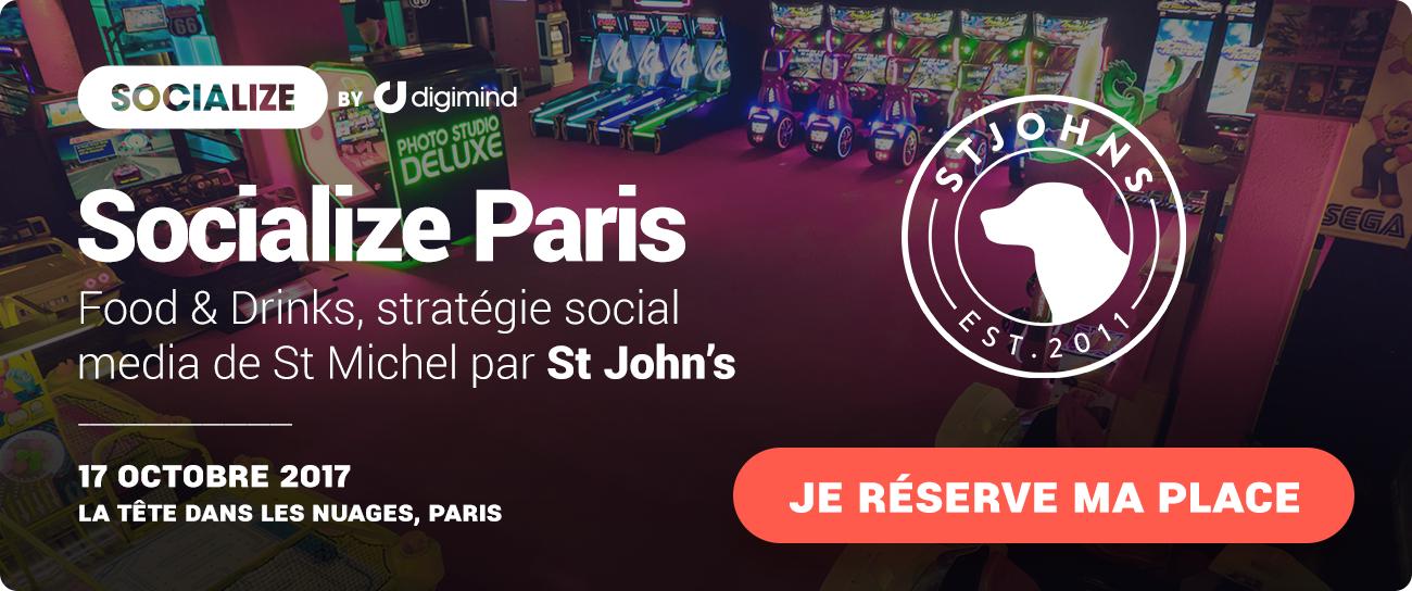 Inscrivez-vous à Socialize Paris 17 octobre - Food and Drinks