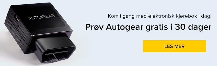 Prøv Autogear gratis i 30 dager