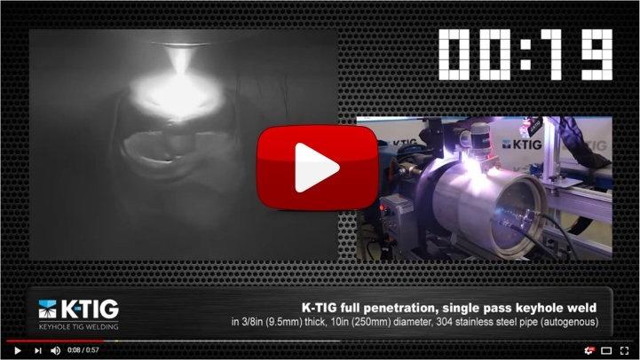 K-TIG Video - full penetration, single-pass welding